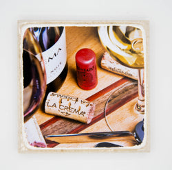 """The Cream"" Wine Inspired Coaster"