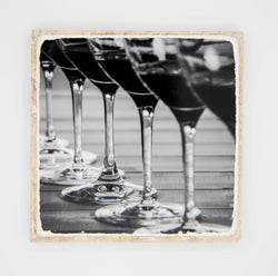 """Infinite II (BW)"" Wine Inspired Coaster"