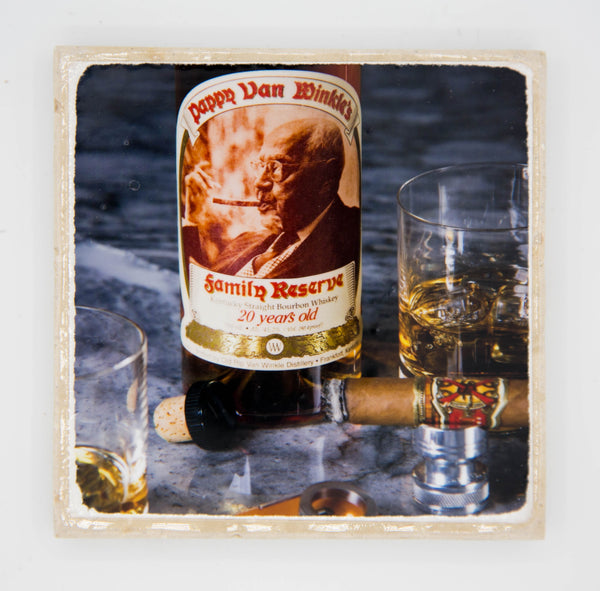 """Pappy 2.0"" Bourbon Inspired Coaster"