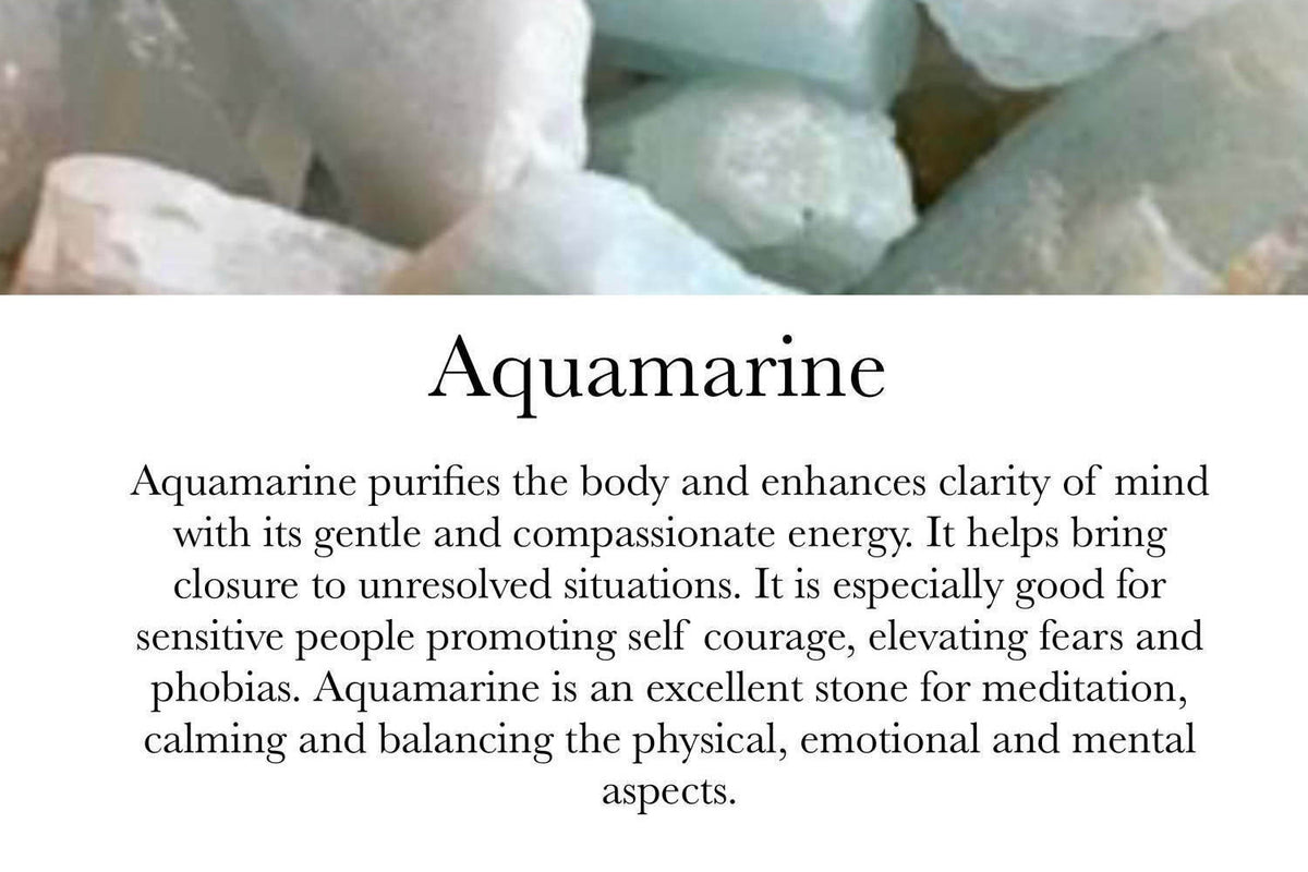 . Healing- Aquamarine & Apple Aura Quartz - GaiaBoheme