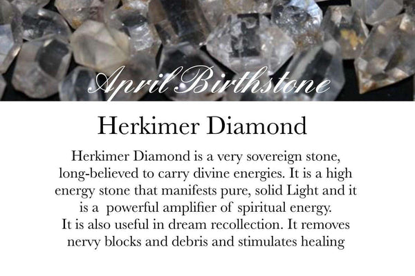 . Herkimer Diamond & Clear Quartz - April Birthstone - GaiaBoheme