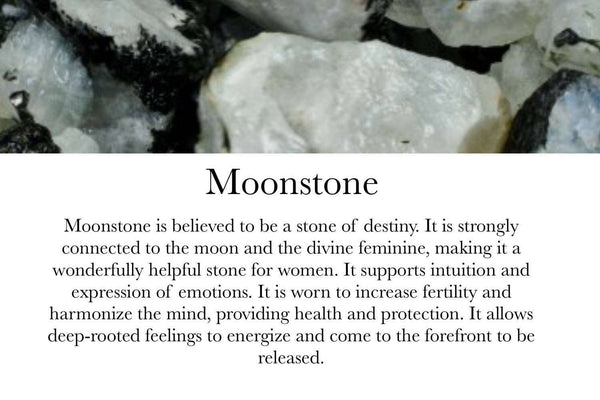 Moonstone & Clear Quartz- June Birthstone - GaiaBoheme