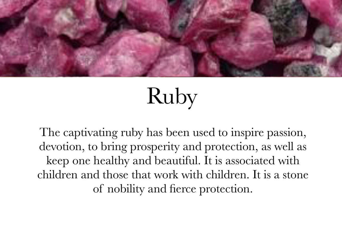 Ruby & Clear Quartz - July Birthstone - GaiaBoheme