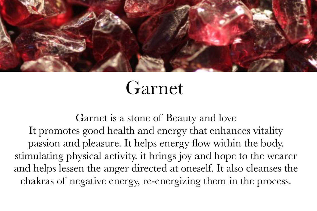 Garnet & Clear Quartz - January Birthstone - GaiaBoheme