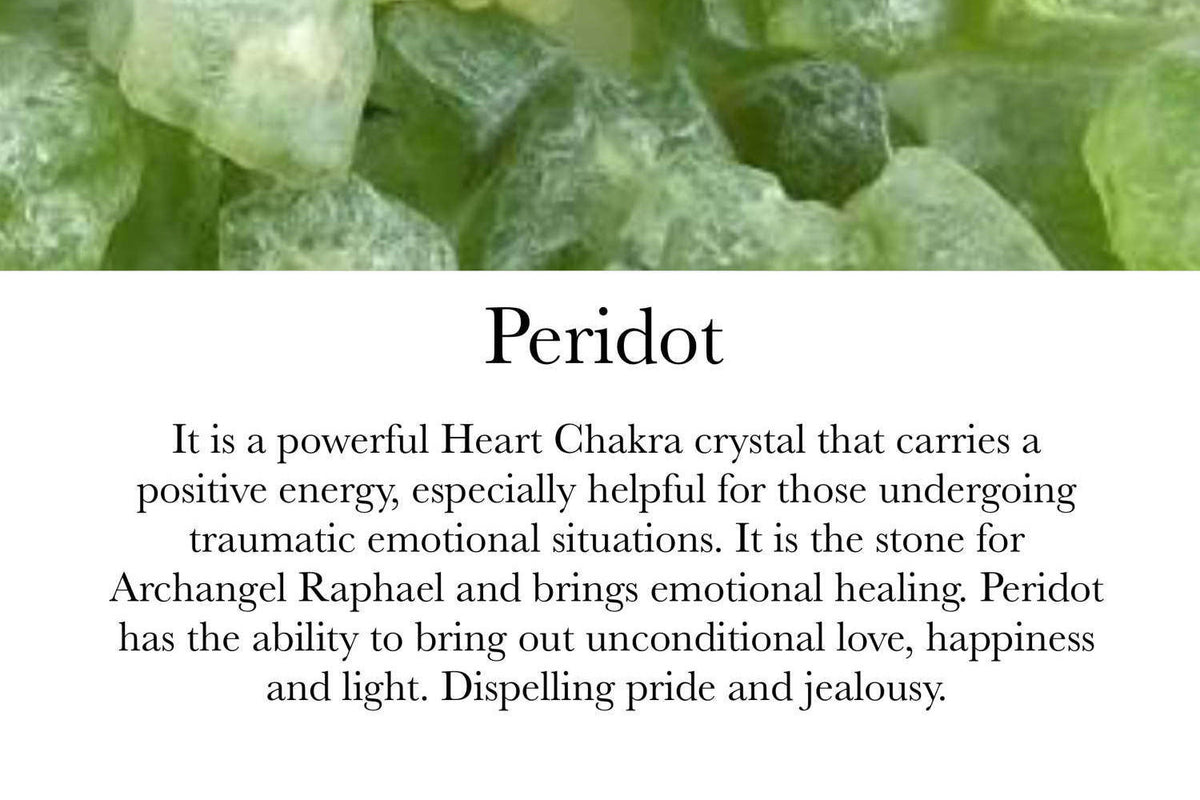 Peridot & Clear Quartz- August Birthstone - GaiaBoheme