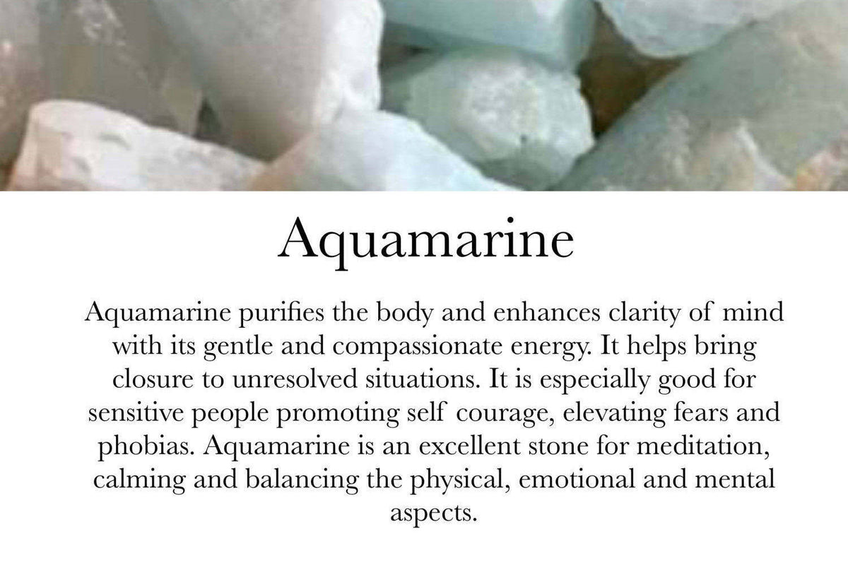 Aquamarine - March Birthstone - GaiaBoheme