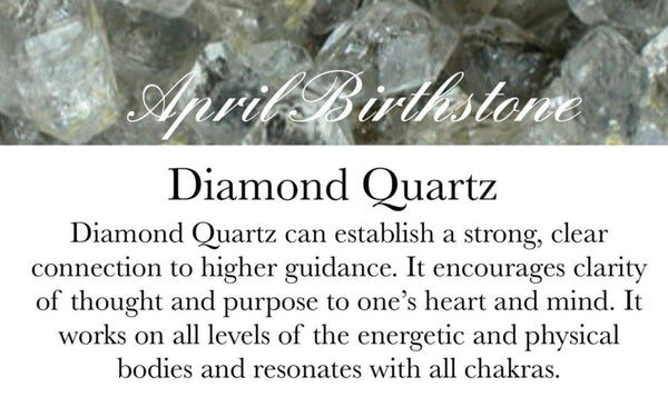 April Birthstone - diamond Quartz necklace - GaiaBoheme
