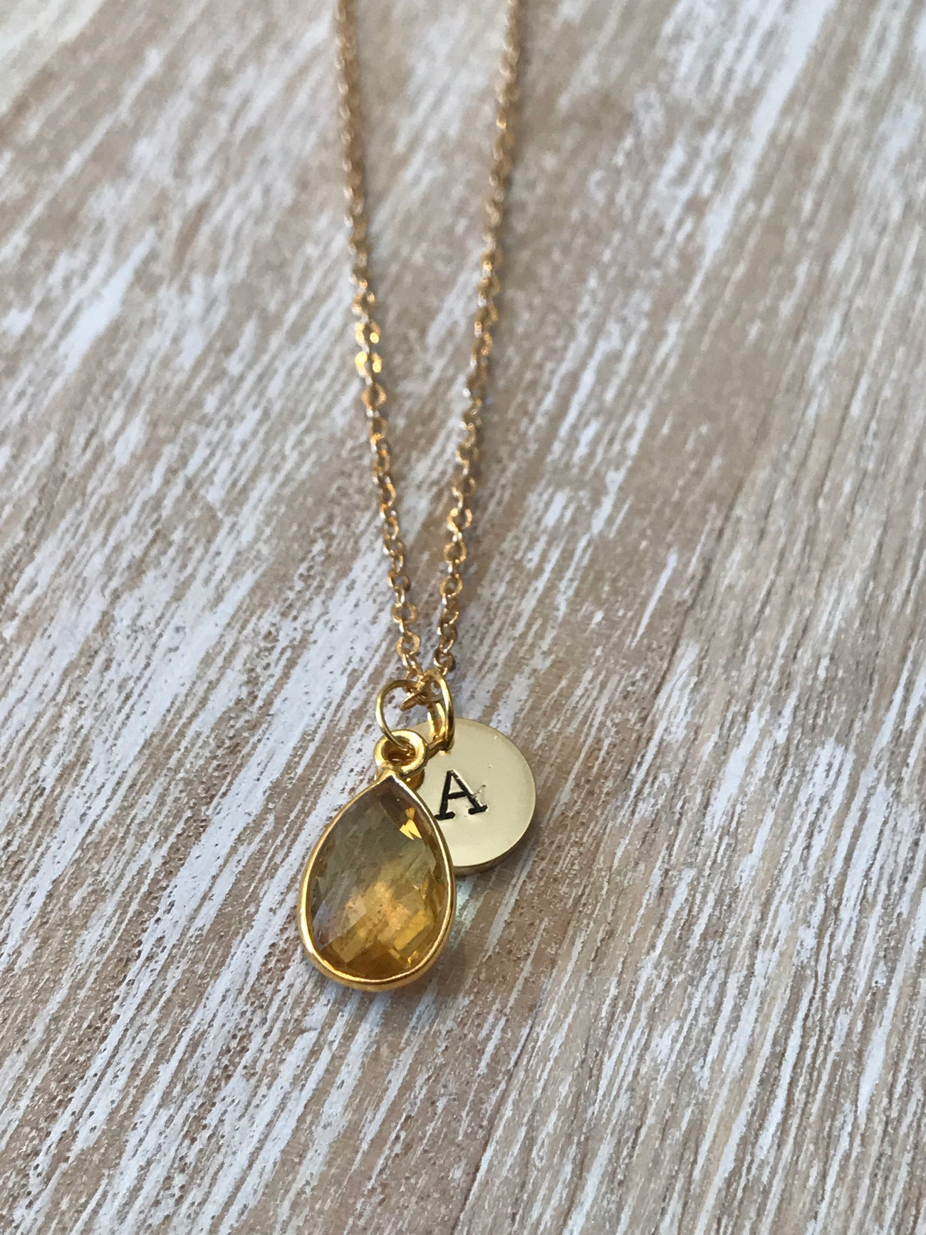 November Birthstone- Citrine Necklace - GaiaBoheme