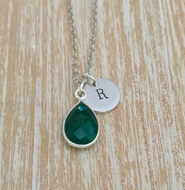 May Birthstone- Emerald Necklace - GaiaBoheme