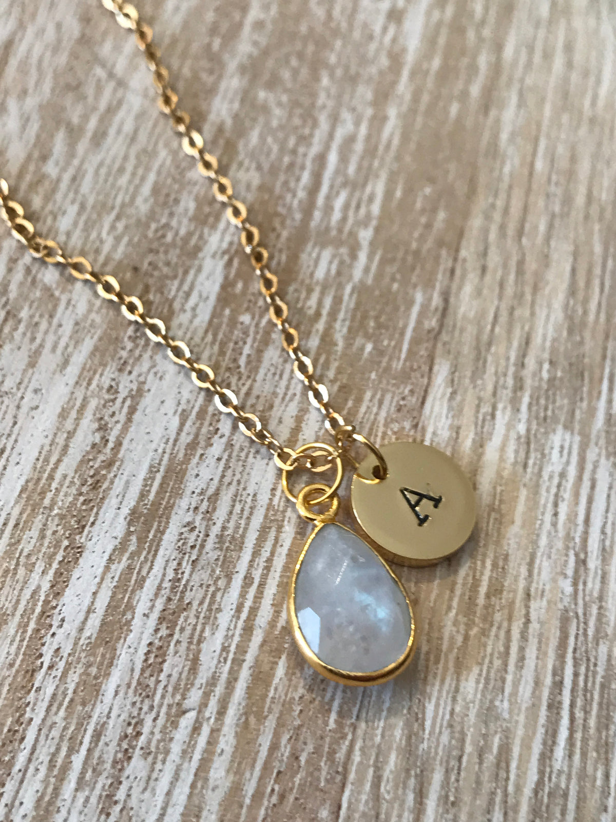June Birthstone- Moonstone Necklace - GaiaBoheme