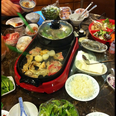 1500W Steamboat with BBQ Grill