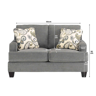Ginlyne 2 Seater Sofa with Cushions