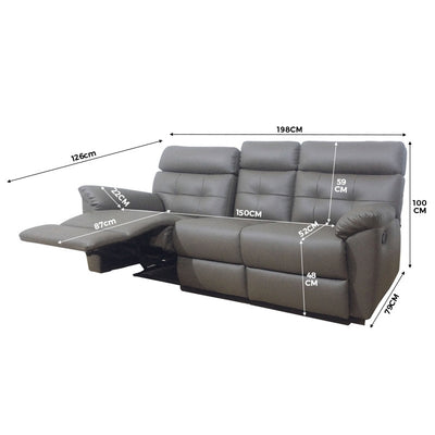 Emma 3 Seater Recliner Sofa