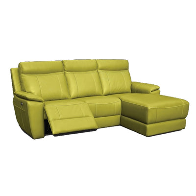 Nicky L Shaped Full Leather Sofa With Recliner