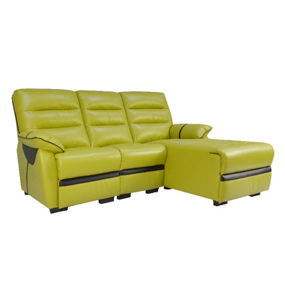 APOLLOS L SHAPE SOFA (HALF LEATHER )