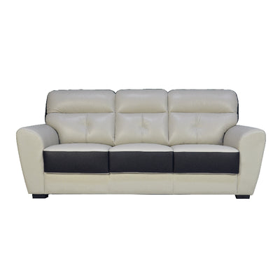 FELIX 3 SEATER SOFA (HALF LEATHER )