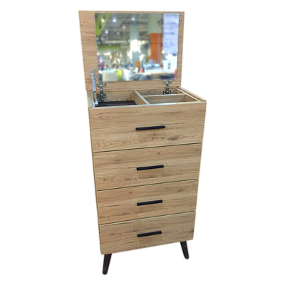 Novena Pax Small Chest Of Drawer With Mirror