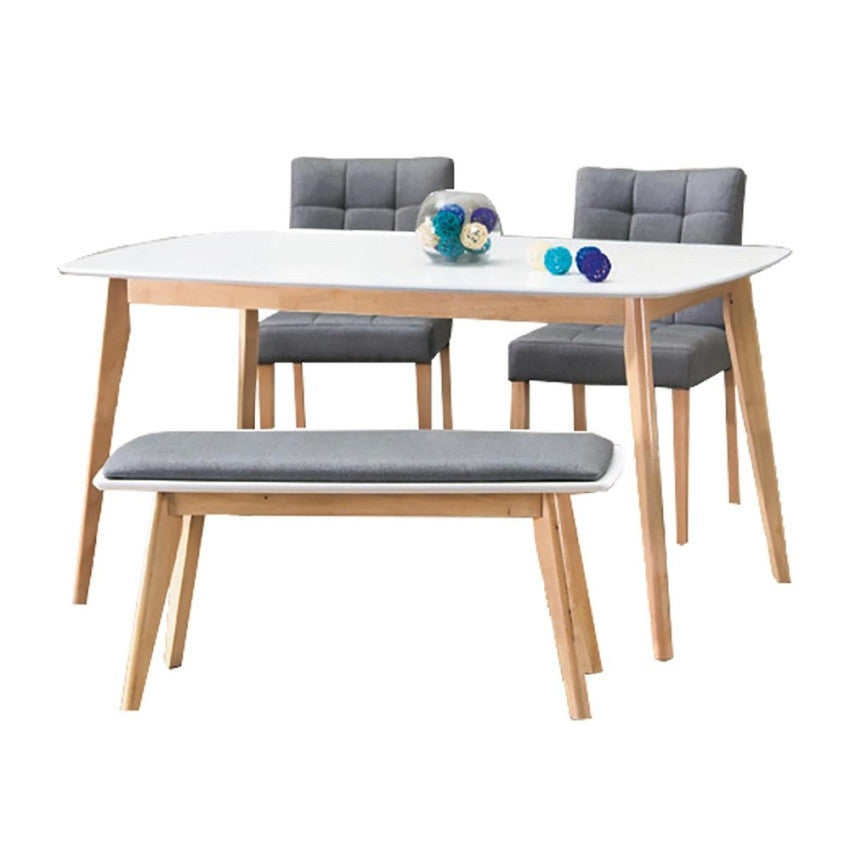Leon Dining Set With Trendy Bench And Chairs