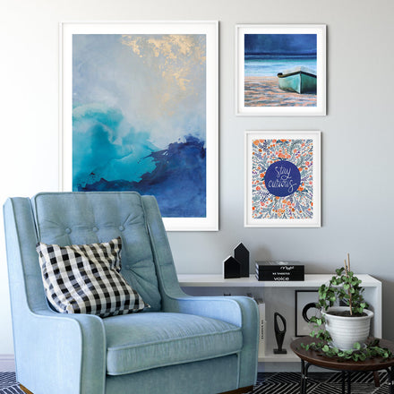 Art print Rising by artist Julia Contacessi in white frame
