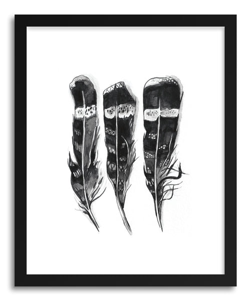 Fine art print Hawk Feathers by artist Amanda Paulson
