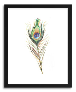 hide - Art print Peacock Feather by artist Amanda Paulson on fine art paper
