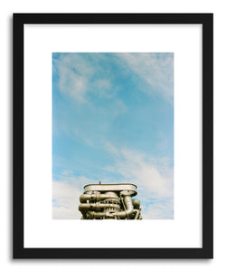hide - Art print Shuttle by artist Anna Rasmussen in white frame