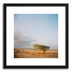 hide - Art print Windy by artist Anna Rasmussen in natural wood frame