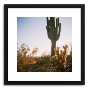 hide - Art print Cactus by artist Anna Rasmussen in natural wood frame