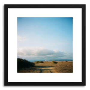 hide - Art print Island Sky by artist Anna Rasmussen in natural wood frame
