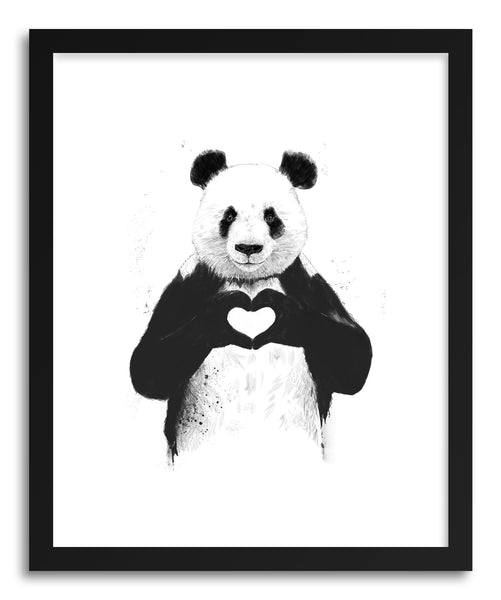 Fine art print All You Need Is Love by artist Balazs Solti