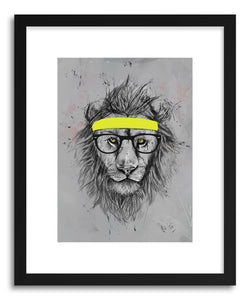 hide - Art print Hipster Lion by artist Balazs Solti on fine art paper