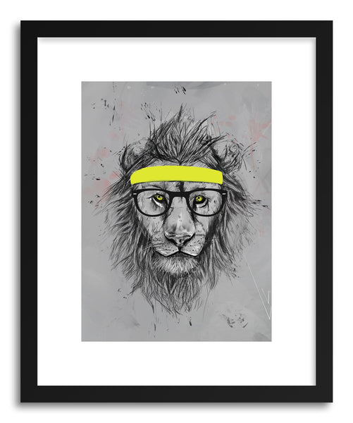 Fine art print Hipster Lion by artist Balazs Solti