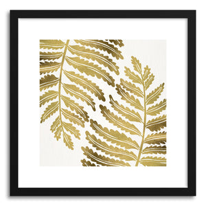 Art print Gold Fern Leaf Pattern by artist Cat Coquillette
