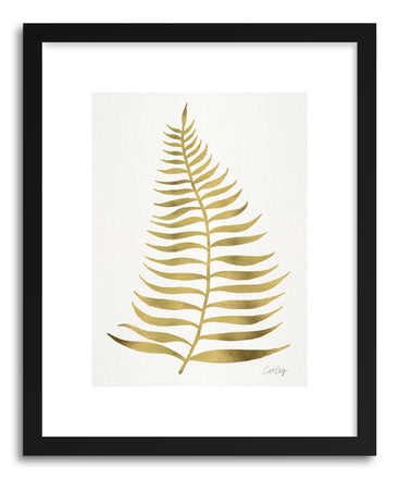 Art print Gold Palm Leaf by artist Cat Coquillette