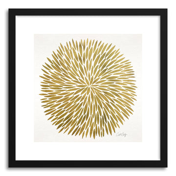 Art print Gold Watercolor Burst by artist Cat Coquillette