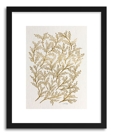 Art print Gold Branches by artist Cat Coquillette