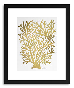Art print Gold Coral by artist Cat Coquillette