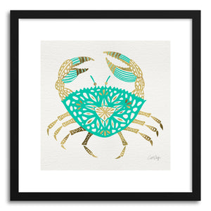 Art print Gold Turquoise Crab by artist Cat Coquillette