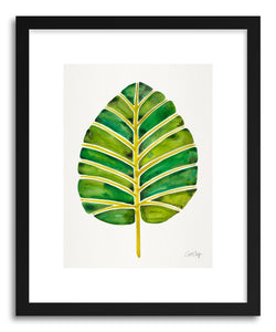 Art print Green Alocasia by artist Cat Coquillette