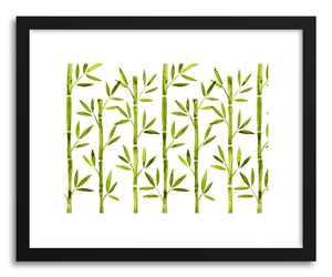 Art print Green Bamboo Pattern by artist Cat Coquillette