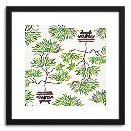 Art print Green Bonsai Pattern by artist Cat Coquillette