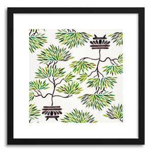 hide - Art print Green Bonsai Pattern by artist Cat Coquillette on fine art paper
