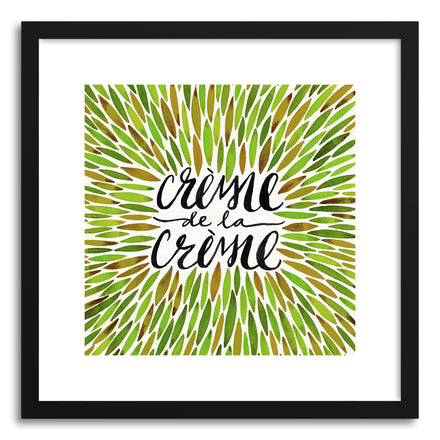 Art print Green Creme DeLa Creme Tote by artist Cat Coquillette