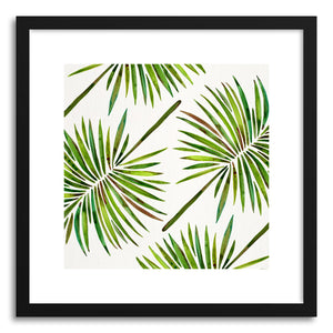 Art print Green Fan Palm Pattern by artist Cat Coquillette