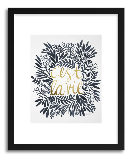 Fine art print C'est La Vie Grey by artist Cat Coquillette