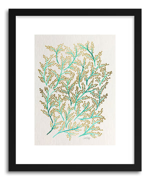 Art print Green Gold Branches by artist Cat Coquillette