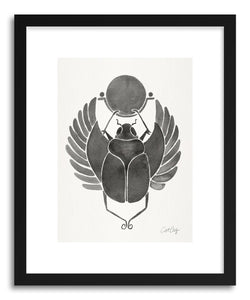 Art print Grey Scarab by artist Cat Coquillette