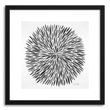 Art print Grey Watercolor Burst by artist Cat Coquillette