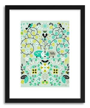 Art print Hedge Hogs Symmetry by artist Cat Coquillette