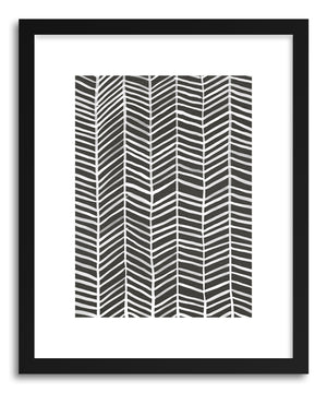 Art print Herringbone Black by artist Cat Coquillette